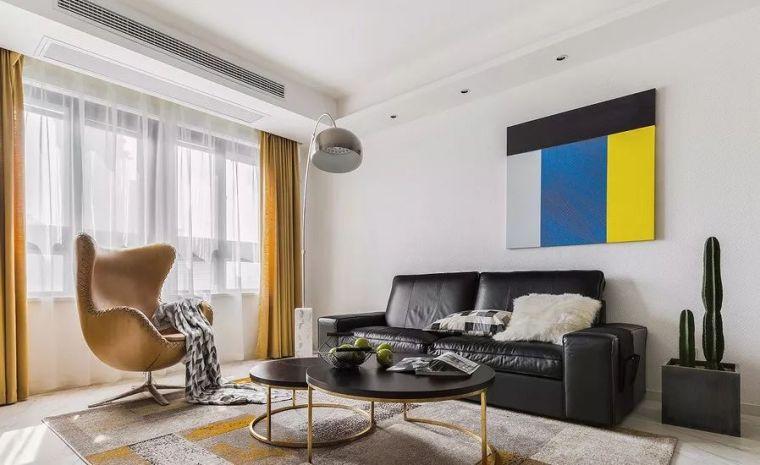 现代简约三居,卧室背景墙这样设计真美!