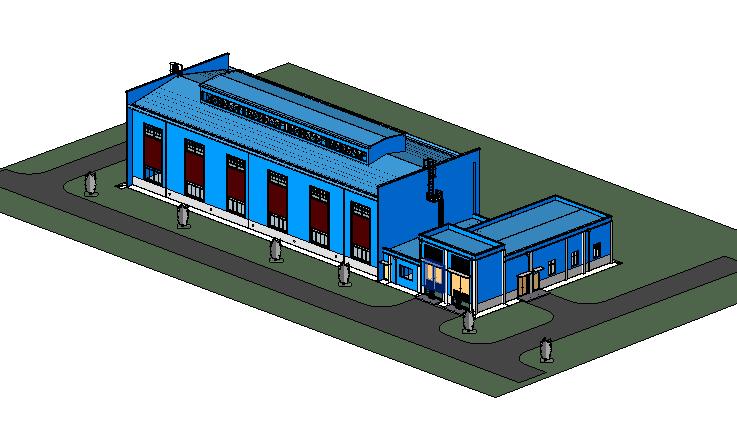 BIM模型-revit模型-空压站项目模型