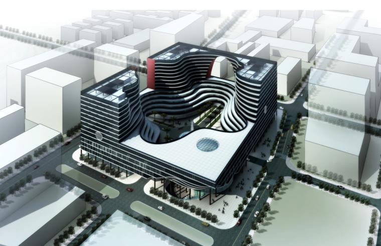 [深圳]市级扭曲造型档案馆建筑方案文本(含CAD及多媒体文件)