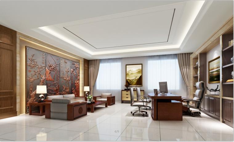 药品公司办公楼设计方案效果图(含3D模型)_1