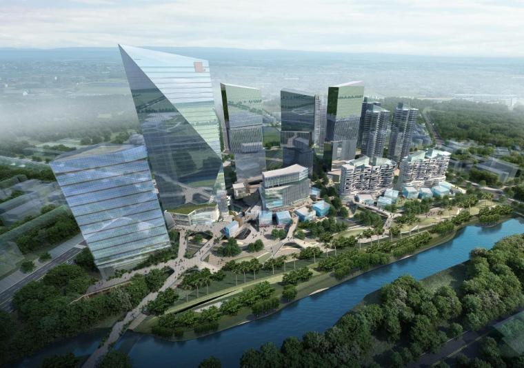 [深圳]超高层独栋式散点商业办公综合体建筑设计方案文本