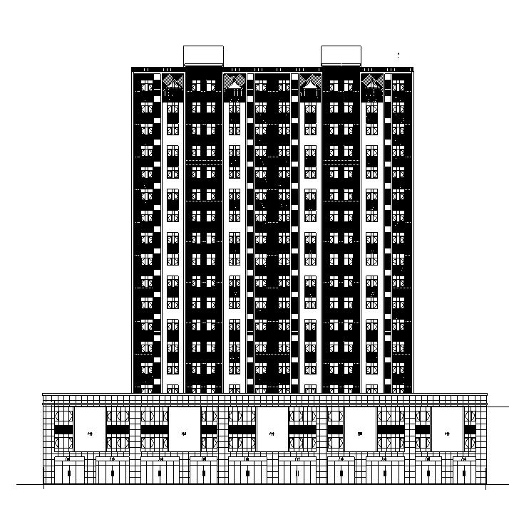 [陕西]高层框架剪力墙结构住宅建筑施工图(含全专业)