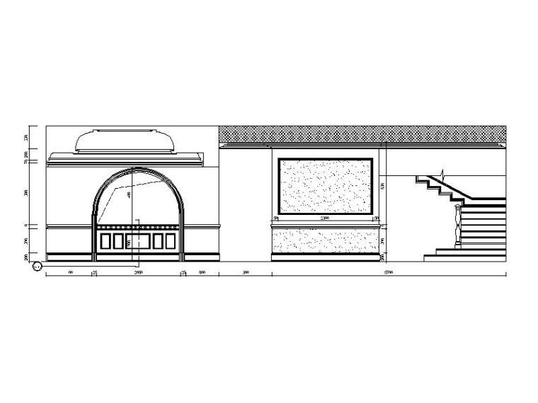 [重庆]欧式虚线风格建筑CAD施工图(含效果图)cad变为中v虚线别墅不图片