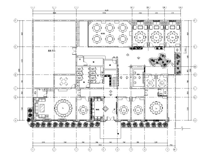 [杭州]现代风格餐馆装修设计施工图