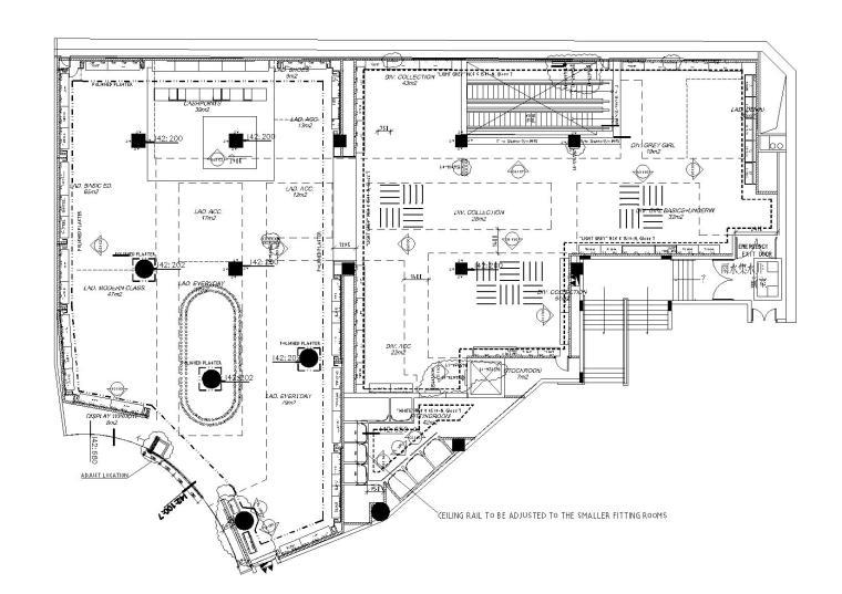 [广州]瑞典快时尚品牌H&M广州天环广场旗舰店装饰施工图+物料手册