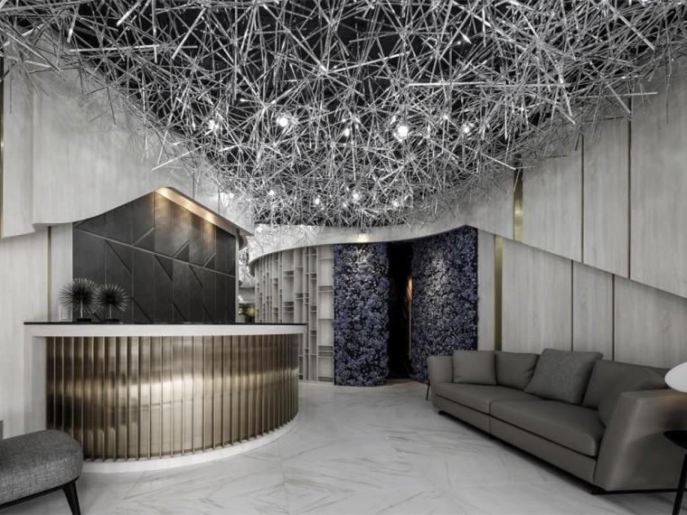 现代风格的发廊空间