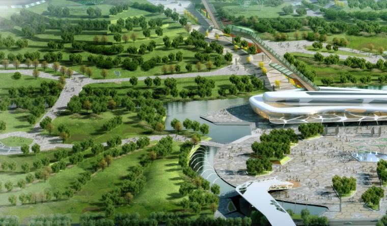 [湖北]武汉园博会景观规划设计方案文本-[湖北]武汉园博会景观规划设计文本 C-4 鸟瞰效果