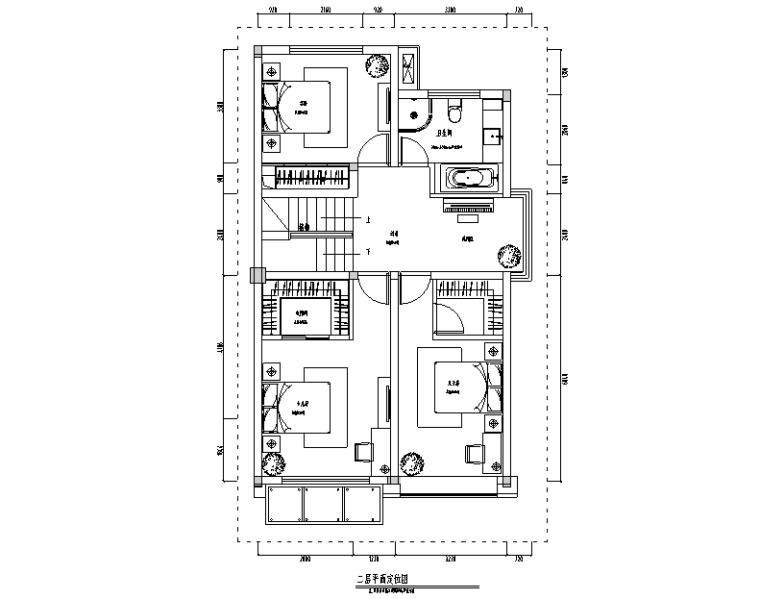 [江苏]现代风格金湖别墅住宅设计施工图(附效果图)