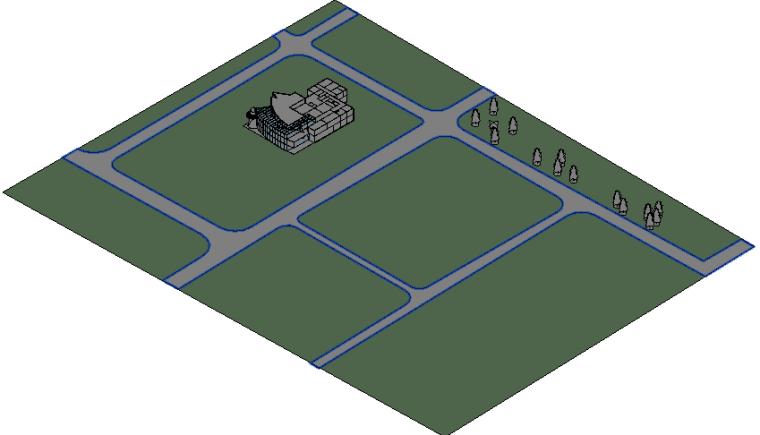 BIM模型-revit模型-场地模型、建筑模型