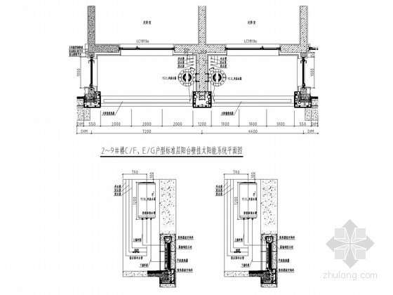 空中花园别墅太阳能热水系统给排水施工图纸(分体承压集热 闭式循环二次换热)