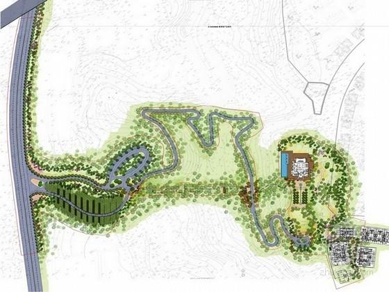 [重庆]现代庭院会所及道路景观规划设计方案