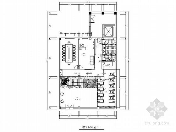 [台州]稳重大气传统中式办公楼室内设计CAD施工图