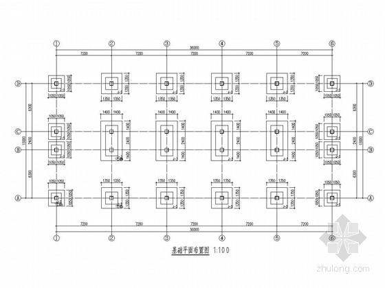 [山西]地上三层框架结构旅馆结构施工图