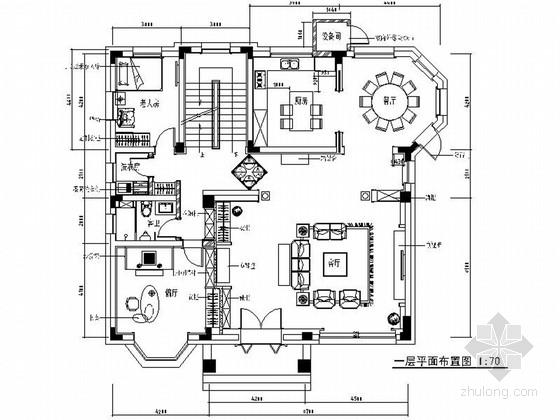 [原创]精品高级简欧风格两层别墅室内设计装修施工图(图纸全面 力荐!)