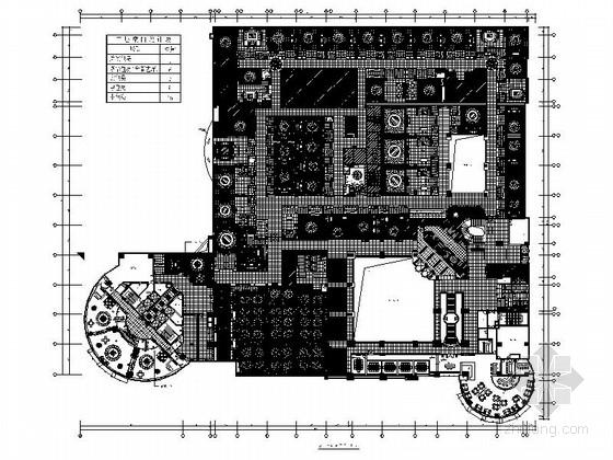 [广东]精品现代国际大酒店餐厅客房室内装修施工图