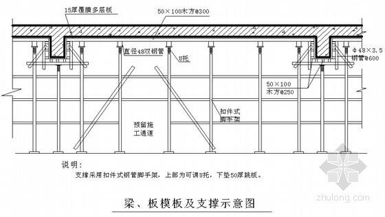 污水处理厂模板工程施工方案(多层板)