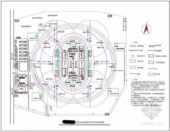 [河南]体育场工程施工现场平面布置图(基础 主体 临电)