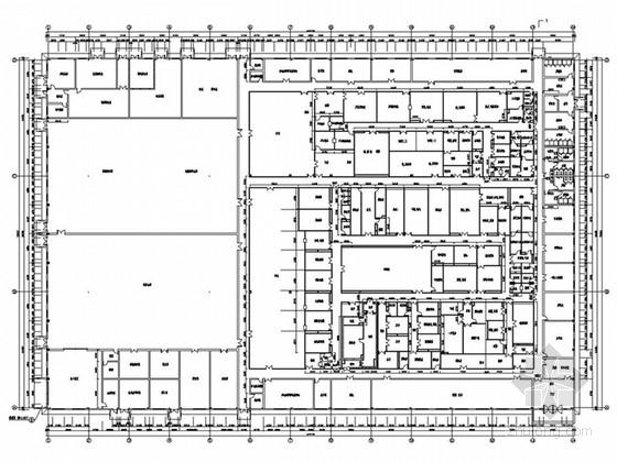 uasb工艺污水处理厂平面布置图资料下载-制药厂制剂车间工艺平面图