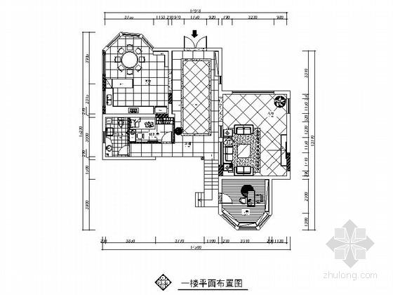 现代大气两层别墅室内装修施工图(含效果图完整报价单)