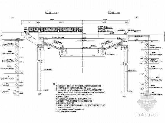 单跨20m先张法空心板桥与驳岸工程设计图(36张)