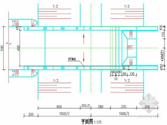 高标准农田建设示范工程设计CAD节点详图(水闸 过水涵洞等)