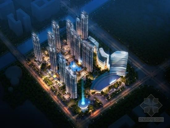 [福建]113米现代风格全球连锁知名酒店建筑-21层现代风格全球连锁知名酒店效果图