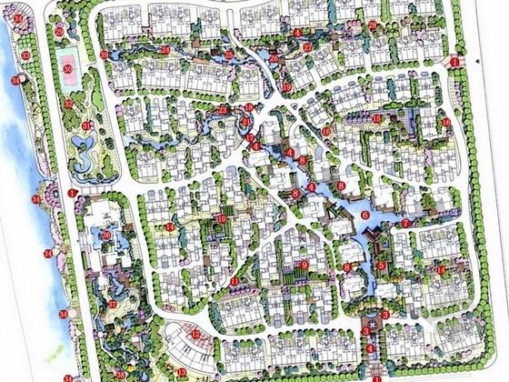 [扬州]可持续简约居住区景观规划设计方案