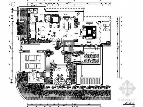 [广东]官宅双层别墅室内装饰设计CAD施工图