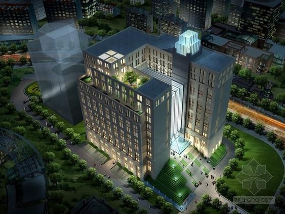 [上海]55米现代古典风格科研中心建筑设计方案文本(含CAD方案图)