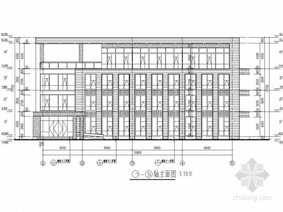 [江苏]四层框架结构软件园办公楼建筑结构施工图