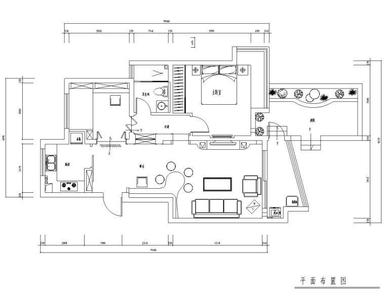 [江苏]常熟城市花园公寓室内施工图设计(附实景图)