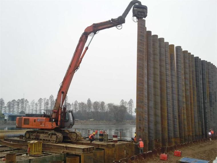 拉森钢板桩施工工法的九个步骤
