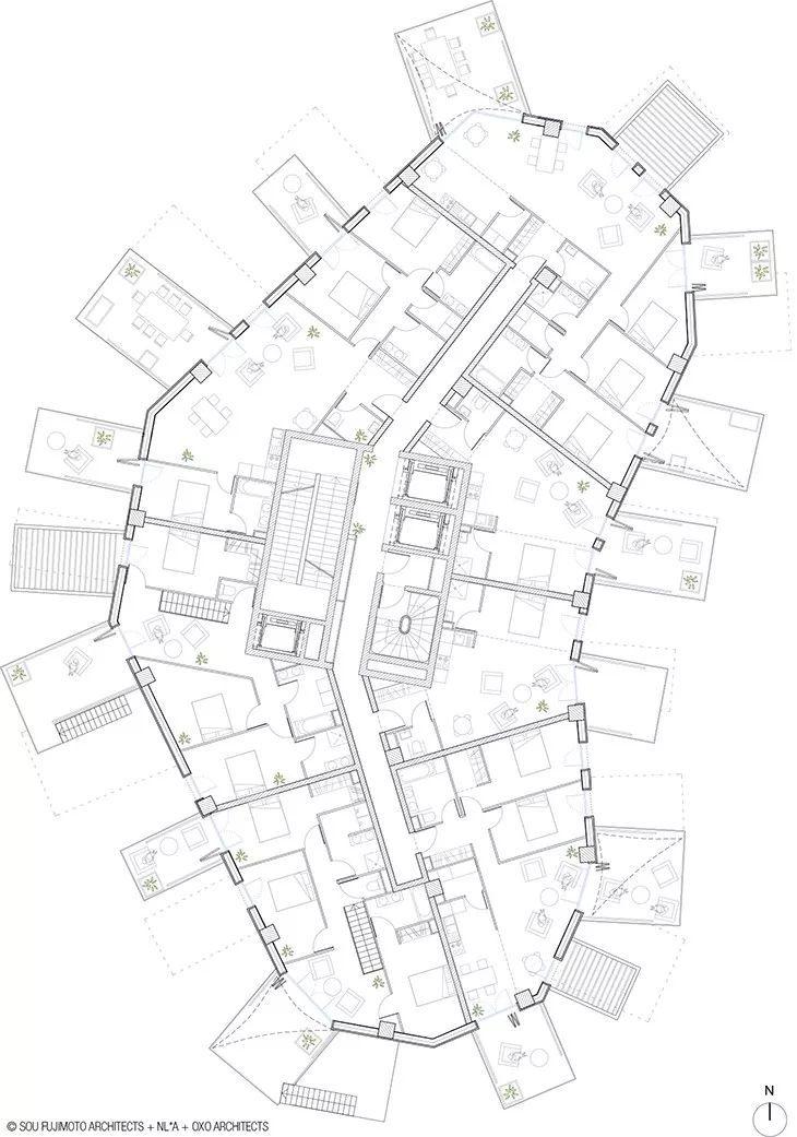 """藤本壮介设计的像树一样的公寓楼建成了,每户都有""""空中花园""""_24"""