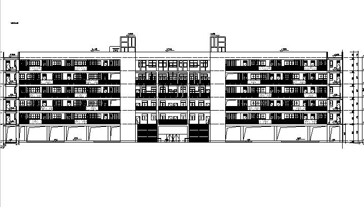 [深圳]六层框剪结构新建中学建筑施工图(含结构专业)
