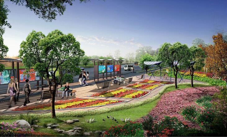 [上海]新江湾城道路景观绿化带全套设计文本(知识,生态)