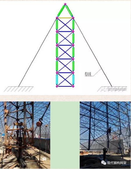 [行业资讯]大跨度煤棚焊接球网架液压顶升施工技术_18