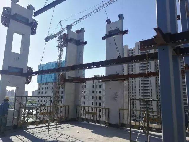 浭阳新城首栋装配式钢结构住宅工程拔地而起_4