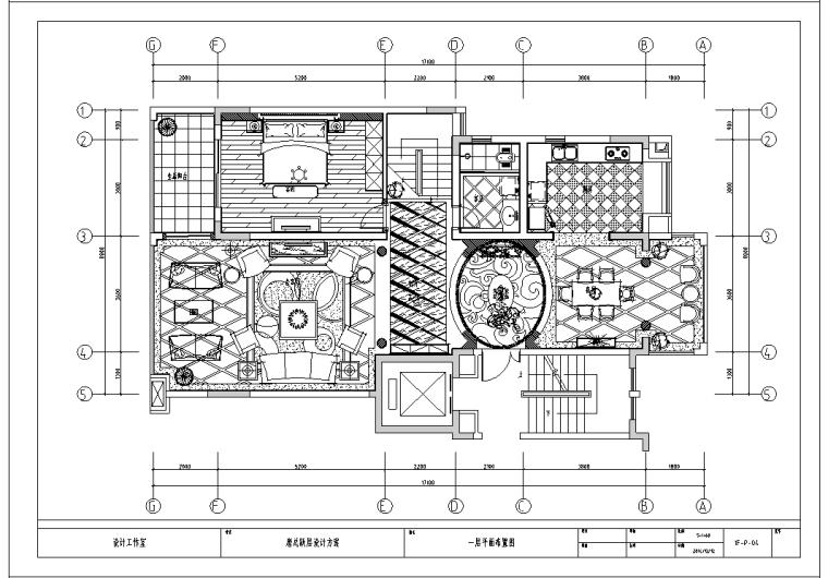 欧式低调奢华跃层别墅施工图及效果图