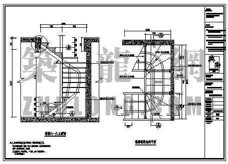 复式钢结构楼梯结构图