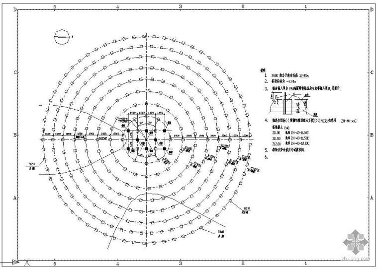 某预应力方桩布桩基础节点构造详图
