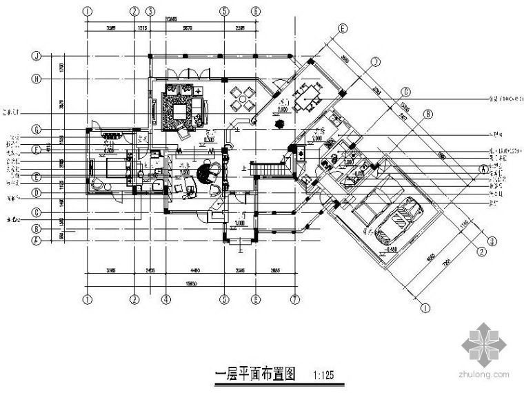 [上海]某二层别墅设计施工图_1