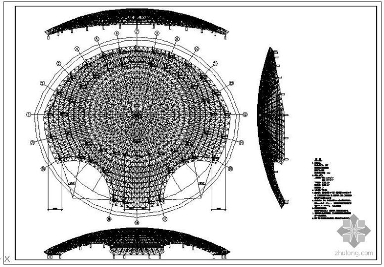 成都市某交易中心展览馆节点构造详图