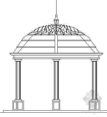 某欧式穹顶亭施工图