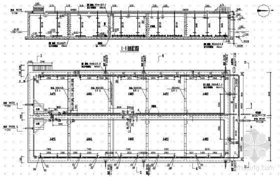 水解调节池及接触氧化池工艺图