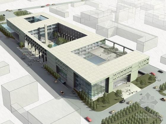 [云南]4层玻璃幕墙结构办公楼建筑设计方案欧式建筑设计说明书图片