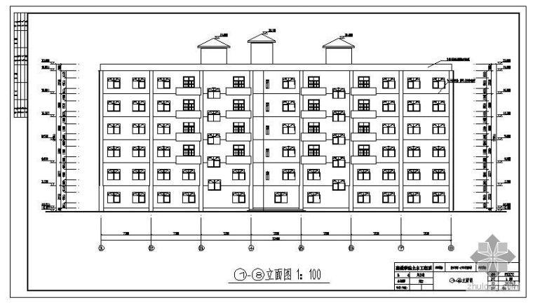 [學士]南方某市一小型旅游賓館畢業設計(含計算書、建筑結構設計圖)