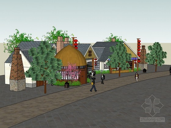 小型商业街