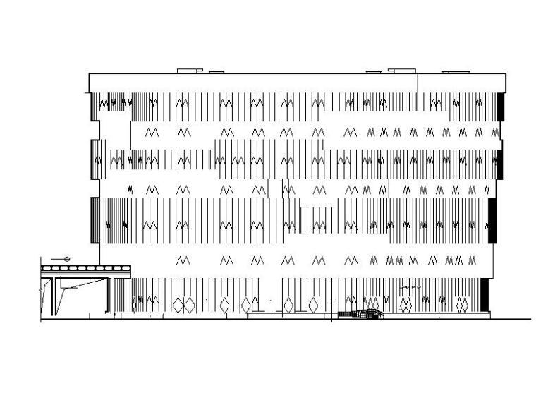 [成都]高层玻璃幕墙立面SOHO及loft办公楼建筑施工图