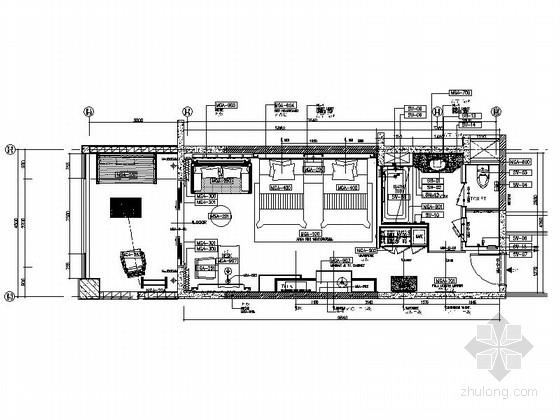 民族风情度假酒店客房精装修施工图(含效果图)