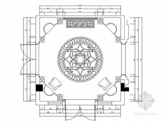 超奢华别墅圆形玄关设计图(含效果)